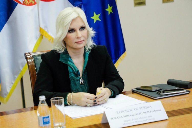 وزيرة التعدين والطاقة في صربيا